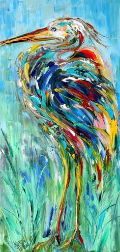 Animal Paintings, Acrylic Paintings, Whimsical Art, Abstract Art, Abstract Portrait, Bird Art, Painting Inspiration, Impressionism, Art Pictures