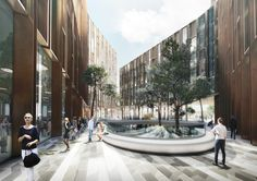 Schmidt Hammer Lassen Wins Competition to Design Mixed-Use Complex in Central Oslo