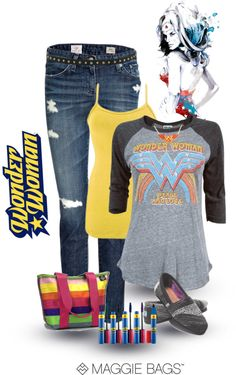 """""""Wonder Woman"""" by maggiebags ❤ liked on Polyvore"""