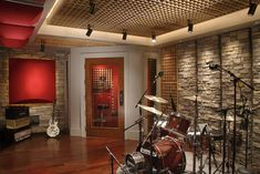 Home Music Recording Studio.  Brody and his buddies can rock out with no headaches for the folks.