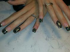 Military Nails done by me :) Military Nails, Fabulous Nails, How To Do Nails, Class Ring, Finger, Nail Designs, Nail Art, Fun, Fingers