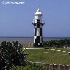 Leuchtturm von Port Shepstone, KwaZulu Natal, Südafrika Position: 30°44'S 30°27'E