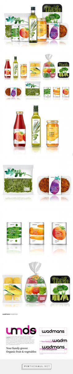 Wadmans #Organic #Food #packaging by Todd Anderson - http://www.packagingoftheworld.com/2016/01/wadmans-organic-food-concept.html