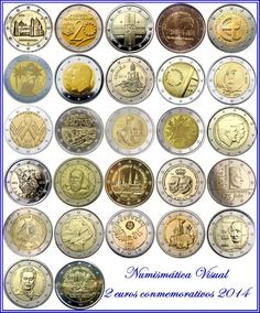 Piece Euro, Timbre Collection, Money Worksheets, Euro Coins, Valuable Coins, Rare Stamps, Coin Values, Show Me The Money, Commemorative Coins