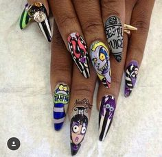 these pointed nails are not pretty or cute. you look stupid as fuck.