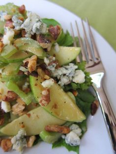 green apple and celery salad with mustard vinaigrette