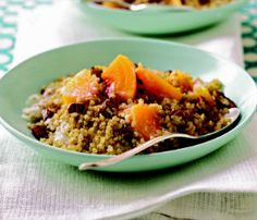 Cinnamon Quinoa with Peaches #SlowCooker #HeartHealthy