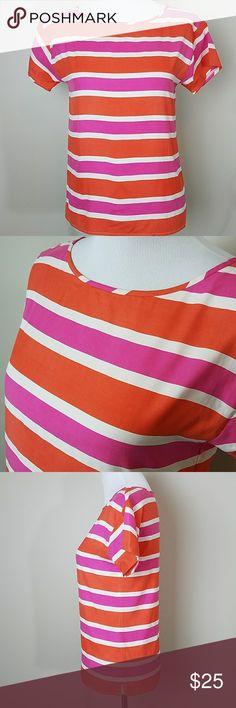 J. Crew Orange Pink Silk Blouse XXS XXS. 100% Sill. Great condition. J. Crew Tops Blouses