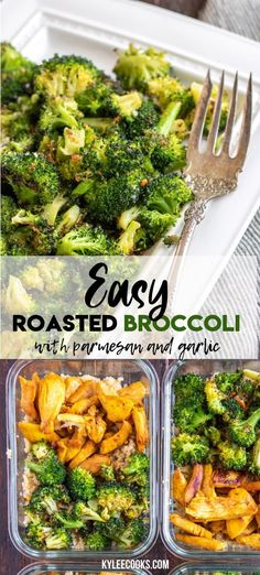 Roasted Broccoli is the unsung hero of weeknight dinner sides. This easy recipe is hands-off and super delicious! If you want your family to eat broccoli and LOVE it give this a try! Vegetable Side Dishes, Side Dishes Easy, Side Dish Recipes, Vegetable Recipes, Vegetarian Recipes, Dinner Recipes, Cooking Recipes, Healthy Recipes, Delicious Recipes