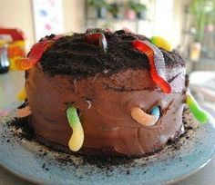 Fiercer and Bolder Roundworms Cake | 10 Brilliant Boys Cakes - Tinyme Blog