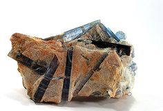 Kyanite with Staurolite - Pizzo Forno, Tessin, Switzerland Size: x x cm Crystals Minerals, Rocks And Minerals, Crystals And Gemstones, Crystal Magic, Crystal Healing, Pictures Of Rocks, Rocks And Gems, Chakra Stones, Fossils