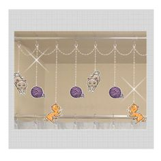 Kitties and String....Shower Curtain Bling by ShowerCurtainBling,