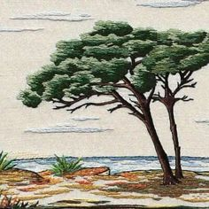 Landscape embroidery