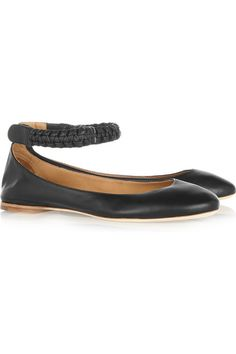 Chloe macrame leather ballet flats