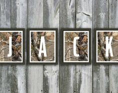 Realtree camo nursery | ... Baby Name - Wall Art - Personalized Nursery Art - Hunting Camo Nursery  #realtreecamo
