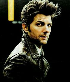 Adam Scott // personality trumps looks in this one ... but this is a killer photo!