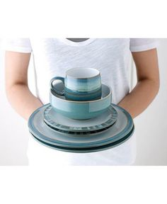 Denby Azure Place Setting Blue *** To view further for this item, visit the image link. (This is an affiliate link) Stoneware Dinnerware Sets, Tableware, Hand Painted, Dining, Mugs, Handmade, Collection, Oven Ideas, Entertaining