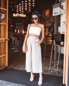 Culottes: Yazın modaya uygun pantolonları giyiyoruz - Trendler ve Moda Look Fashion, Daily Fashion, Fashion Outfits, Spring Summer Fashion, Spring Outfits, Summer Pants Outfits, Outfits Primavera, Mein Style, Bohemian Mode