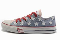 e2db3c80488 Discount Kicksregal net Wholesale 2012 Collective Version Converse American  Flag All Star Baby Blue Canvas With White Stars Light Pink Tongu.
