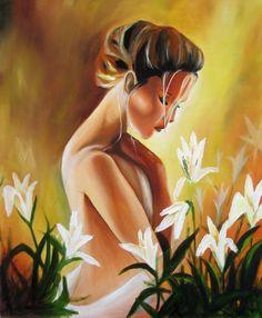 Original 18x24 Oil Painting Golden by artbycheyne on Etsy, $150.00