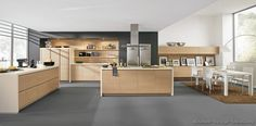 #Kitchen Idea of the Day: Modern Light Wood, Open-Plan Kitchen. (By ALNO, AG)