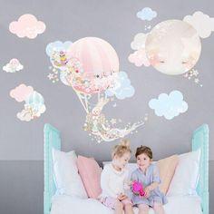 Hot Air Balloon Wall Sticker - The Wallsticker Company - GIRL