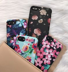 Floral bouquet  Dark Rose + Lilac Kiss + Mint Paradiso + Nightlily Case for iPhone 7 & iPhone 7 Plus from Elemental Cases