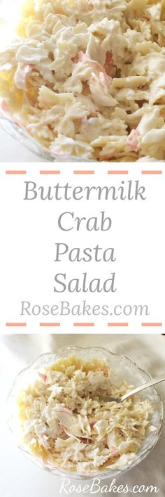 Seafood & Crab Buttermilk Pasta Salad Recipejpg