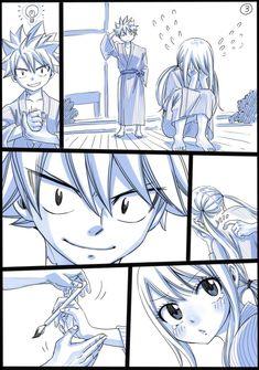 Natsu & Lucy Nalu by Hiro Mashima Natsu Fairy Tail, Fairy Tail Lucy, Fairy Tail Ships, Rog Fairy Tail, Fairy Tail Tumblr, Fairy Tail Amour, Image Fairy Tail, Fairy Tail Manga, Anime Fairy