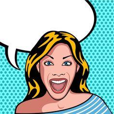 Muito feliz e mulher surpreendida Vetor . Arte Pop, Gravure Illustration, Illustration Art, Sexy Dance, Pinup, Comics Girls, Illustrations, Insta Photo, Oeuvre D'art