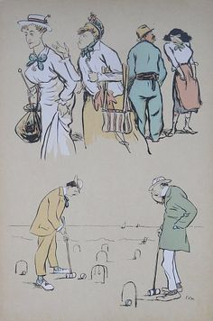 A great vintage print of croquet