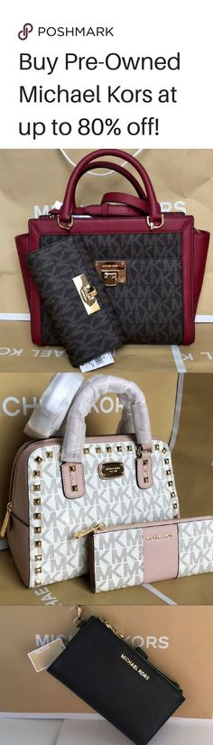 Looking for the perfect purse before your next big trip? Shop Pre-Loved Michael Kors at Poshmark! Find deals up to 80 off all from your phone! Install the free app now! Shipping is also fast and easy. Carteras Michael Kors, Michael Kors Bag, Satchel, Crossbody Bag, Gucci, Swagg, Italian Leather, Purses And Handbags, Fashion Handbags