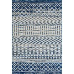 online shopping for Almonte Distressed Bohemian Blue Area Rug Bungalow Rose from top store. See new offer for Almonte Distressed Bohemian Blue Area Rug Bungalow Rose White Area Rug, Blue Area Rugs, Dark Blue Grey, Gray, Brown Beige, Power Loom, Home Depot, Rug Size, Size 2