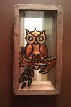 Vintage Stained Glass Owl Wall Decor by TheRetroRemedy on Etsy, $9.00