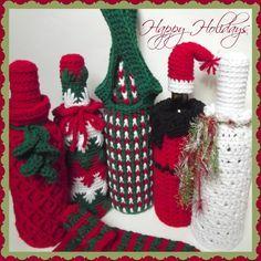 Wine Bottle Cozies ~ FREE Crochet Patterns