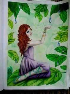 "Colorist Ivana Bartáková Coloring book ""Fairies"" Grayscale. By Alena Lazareva.  http://www.amazon.com/dp/1539632857 #alenalazareva #coloring #colouring #book #coloringbook #coloringbookforadult #adultcoloring #colorist #adultcoloringbook #colouringbook #grayscalecolouring"