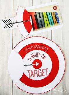 Free printable gift card holder for teacher appreciation. #teacher #gift #idea #print skiptomylou.org