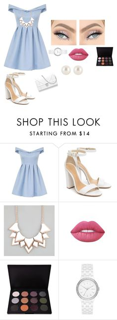 """""""#Dresses"""" by bearteddyblitz on Polyvore featuring Chi Chi, Schutz, Full Tilt, Lime Crime, Shany, DKNY and Henri Bendel"""