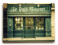 Restaurant wood sign, french cafe print on wood, paris wood plank, french wood… French Cafe, Paris Restaurants, Wood Planks, Love Is Sweet, Wood Print, Wood Signs, Black And White, Etsy, Design