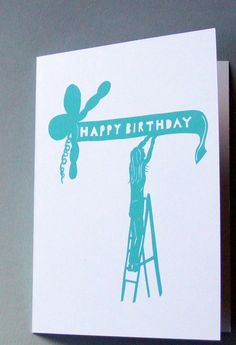Birthday Card - Paper Cut Design 'Birthday Banner' £2.99