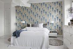 tapeta w stylu skandynawskim, romantyczna tapeta do sypialni, tapeta do sypialni