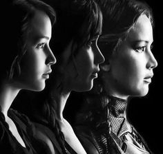 Katniss Everdeen throughout the series. The Hunger Games, Hunger Games Catching Fire, Hunger Games Trilogy, Katniss And Peeta, Katniss Everdeen, I Volunteer As Tribute, Mockingjay, Jennifer Lawrence, Divergent
