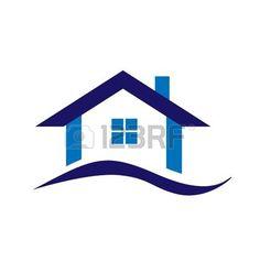 Real estate business design azul do logotipo da casa