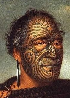 New Zealand | A cropped image of the original painting of Tamati Waka Nene (c.1785-1871) by Gottfried Lindauer, in 1890. | Tamati Waka Nene was a warrior and chieftan of the Ngati-Hoa tribe in the early 19th century. #maoritattoosdesigns #KidsTattooRemoval
