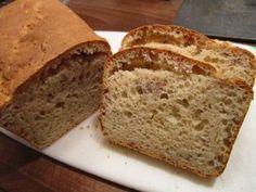 Bezlepkový zakysaný chléb - úžasně vláčný | Pro Alergiky Ham, Banana Bread, Food And Drink, Low Carb, Gluten Free, Menu, Vegetarian, Cooking, Desserts