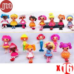 """Find More Action & Toy Figures Information about New 16 PCS Lalaloopsy Mini Dolls PlayHouse 16 Unique Styles for Baby Girl Kids Toys Gift Collections Approx 8cm/3"""" Free Tracking,High Quality toys math,China toy doll stroller Suppliers, Cheap toy dolls glasses from M&J Toys Global Trading Co.,Ltd on Aliexpress.com"""