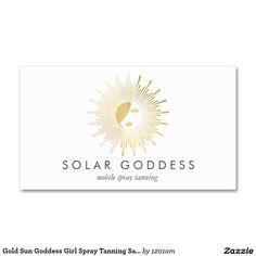 20 best business cards for spray tanning salons images on pinterest sun goddess girl logo spray tanning salon business card colourmoves