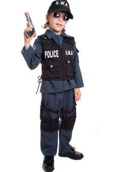 Fantasia de Policial Swat Infantil Luxo :: FantasiasCarol