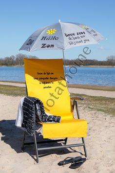 Heerlijk genieten in de zon en van je eigen werk!