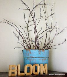 Beyond The Picket Fence: #BestofDIY--Spring Pussy Willows#c246725974667285905